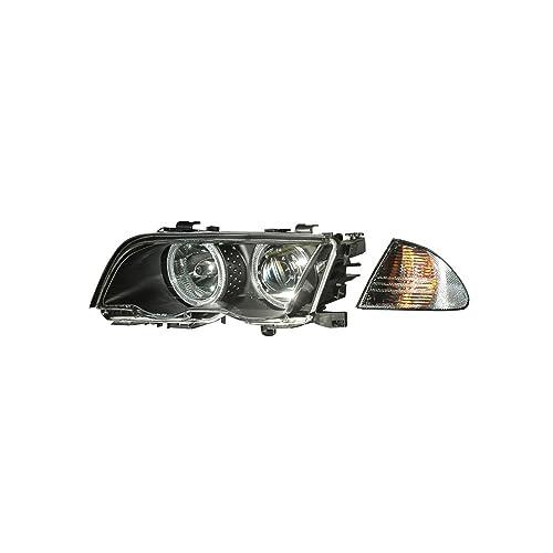 REVi MotorWerks Euro Style Black//Clear Corner Signal Lights by DEPO Fit 2002-2005 BMW E46 4 Door 5 Door