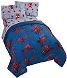 spiderman quilt - Jay Franco Marvel Spiderman Spidey Crawl 5 Piece Full Bed Set - Includes Reversible Comforter & Sheet Set - Super Soft Fade Resistant Polyester - (Official Marvel Product)…
