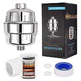 Bingxue Filtro de Ducha Universal de 1/2 'de Alto Rendimiento de 15 etapas Purificador de Agua para baño Elimina el Cloro y el descalcificador de Agua con fluoruro