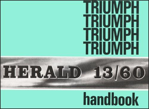 Triumph Herald 13/60 Official Owners Handbook (545037)