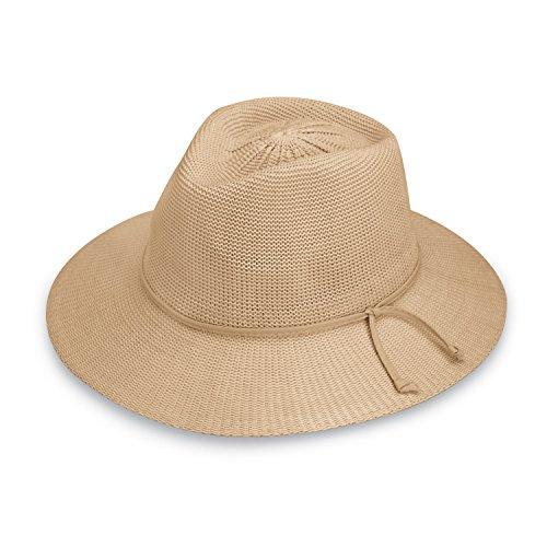 Women's Victoria Fedora Sun Hat - UPF 50+, Adjustable, Packable, Tan