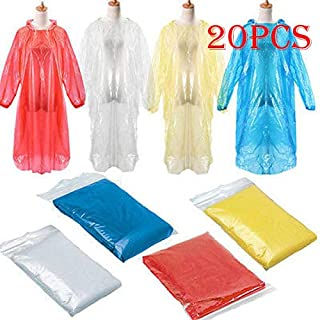 Fine Rain Ponchos for Adults Disposable - Extra Thick Emergency Waterproof Rain Poncho Raincoat for Men Women Plastic Clear Rain Gear for Hiking Travel Concerts