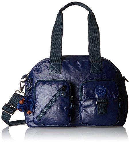 Kipling Damen DEFEA Henkeltasche, Blau (Lacquer Indigo), 33x24.5x19 cm