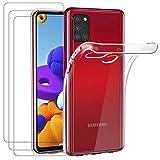 ivoler Hülle für Samsung Galaxy A21s + [3 Stück]