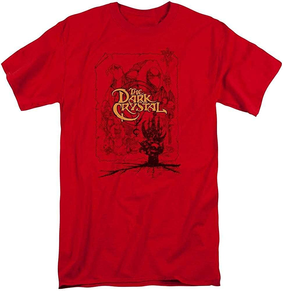 Dark Crystal Poster Lines Adult Tall Fit T-Shirt