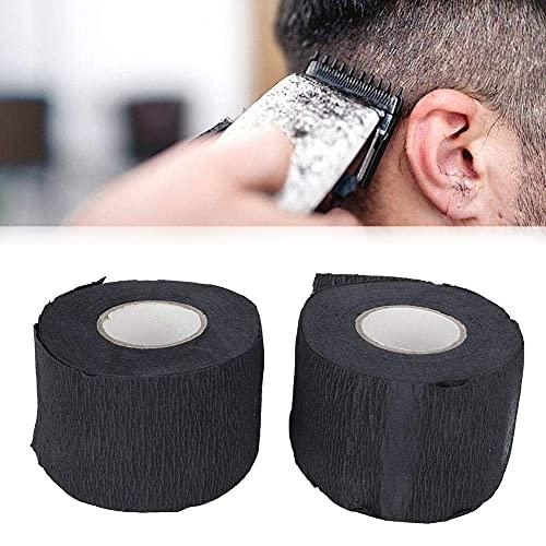 Cuello elástico, tiras de cuello cómodas y desechables, para peluquería Barber Salon, elasticidad resistente a la tracción, limpio y cómodo, negro (paquete de 4)