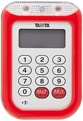 タニタ(TANITA)防水大音量 タイマー レッド TD-377