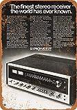 Cartel metálico de 20.3 cm x 30.5 cm Pioneer SX-1010 con receptor estéreo de aspecto vintage