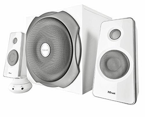 Trust Tytan 2.1 Lautsprechersystem mit Subwoofer (60 Watt, 3,5mm Klinkensticker) weiß