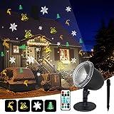 IREGRO Lumières de projecteur de Noël, 4 modèles de projection avec...