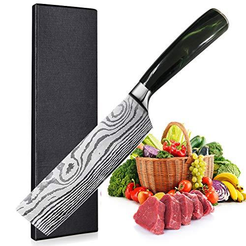 UniqueFire Cuchillo Chino - Cuchillo de Chef Chino - Cuchillo de Verduras...