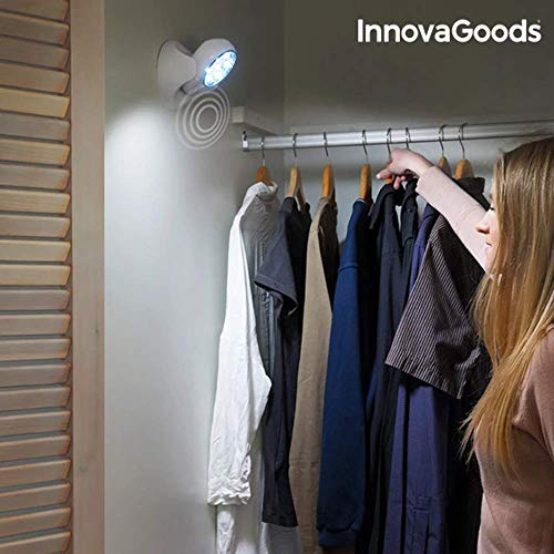 InnovaGoods Lámpara LED con Sensor de Movimiento, Blanco