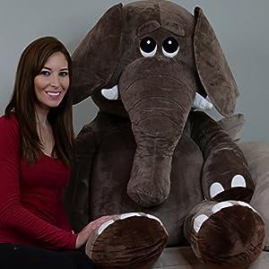 Yesbears 5 Foot Giant Elephant Stuffed Animal Microfiber Body