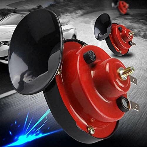 FHK 2 piezas de cuernos de caracol de gran volumen de 300 dB, bocina para barcos, camiones y motocicletas, cuernos de caracol de polímero ABS