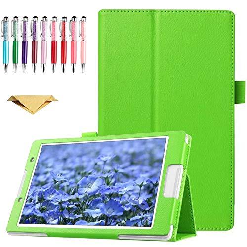 QYiD Funda para Sony Xperia Z Tablet, Ultra Delgada Cover Carcasa con Soporte Función de Auto-Sueño/Estela para Sony Xperia Tablet Z - 10.1 Pulgadas Tablet, Verde