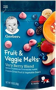 7-Pack Gerber Fruit and Veggie Melts Very Berry Blend, 1 Ounce