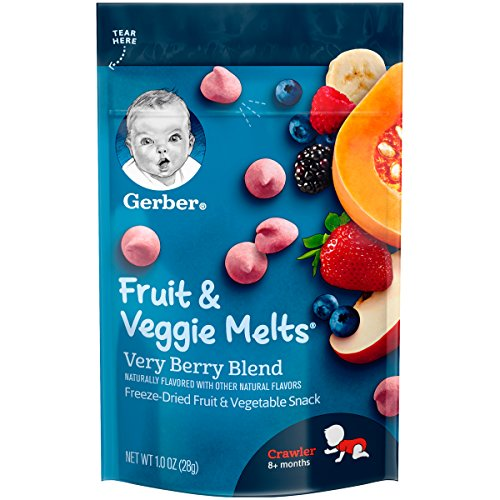 Gerber Fruit and Veggie Melts Very Berry Blend 1 Ounce Pack of 7