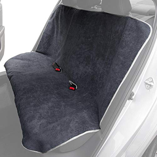 BDK UltraFit Car Seat Towel Cover, Rear Bench with Gray Trim – Waterproof Machine-Washable Sweat Protector, Ideal for Gym Swimming Surfing Running Crossfit, Universal Fit for Auto Truck Van and SUV