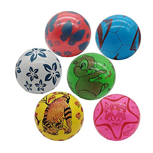 STUWU 4X Kunststoffball KINDERBALL 22cm inkl. Ballnadel Fussball Wasserball Gymnastikball versch. Farben