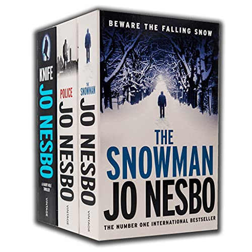 Jo Nesbo Harry Hole Thriller Series 3 Books Collection Set (The Snowman, Police, Knife)