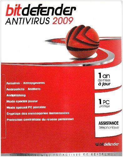 BitDefender Antivirus 2009 (1 poste, 1 an)