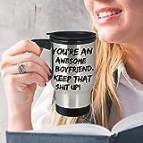 Divertente tazza da viaggio per fidanzato, Natale, San Valentino, regalo sexy, idea regalo per il...