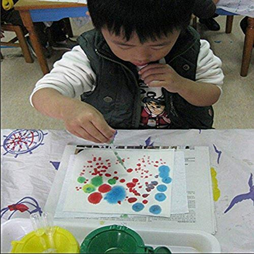 Qingsun 20 Pieces White 3ML Disposable Plastic Eye Dropper Set Transfer Graduated Essential Oils Pipette Dropper