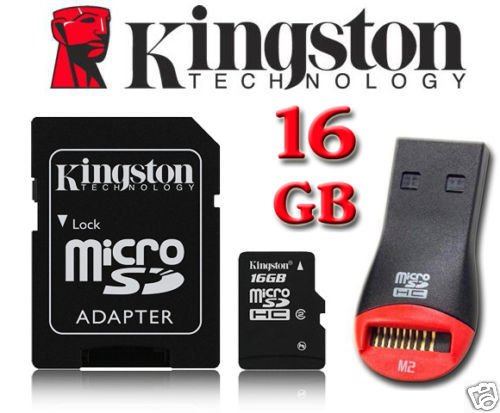 Kingston 16GB Micro SD Micro SDHC geheugenkaart met SD-adapter voor Tesco Hudl, Hudl 2 Tablet, Sony Xperia Tablet Z Wi-Fi Tablet, HP Hewlett Packard Slate 7 Tablet, Archos 101 Tablet, Motorola XOOM MZ604 Tablet, Prestigio MultiPad PMP5080B Tablet, Medion Lifetab S9714 MD (99300), Microsoft Surface Tablet By UkMobileAccessories
