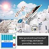 SHIWOJIA 1080P HD PTZ Cámara de Vigilancia 4G LTE Inalámbrico, Cámara de Seguridad Exterior Batería Recargable, Energía Solar Audio Bidireccional, Detección de Movimiento, Intemperie IP67