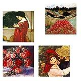 Legendarte CP-08 Quadro Composizione in Rosso, Stampa digitale su tela, Multicolore, cm. 5...