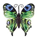 Upkoch Jardín Mariposas Decoración Hierro Jardín Decoración Animales Figura Metal Decoración de Pared Jardín...