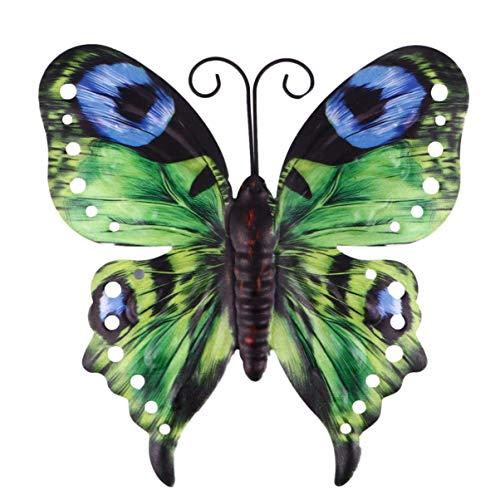 UPKOCH Mariposas decorativas de hierro para jardín, figuras de animales, figura de metal, decoración de pared, figura de jardín, figuras de animales, escultura para vallas, terrazas