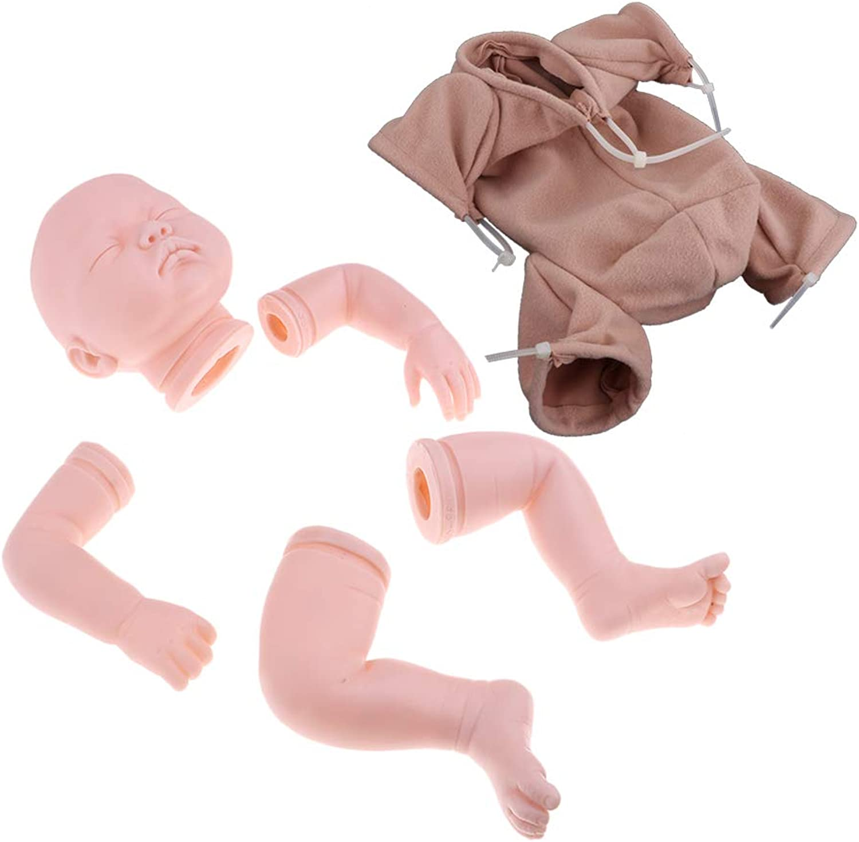 Baoblaze Blank 22inch Reborn Kit Head 3 4 Arms Full Legs Mold & Cloth Body Newborn Baby Doll Kids Birthday Gift
