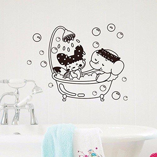 Bazaar Porte des toilettes autocollant de couverture de siège de toilette murale éléphant amovible autocollant bricolage décoration de la maison
