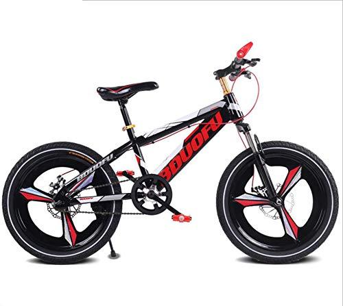 TX Mountain Bike per Bambini Lega di Magnesio con Leva del Cambio Ruota A Raggi Ammortizzatore,Red,18inch