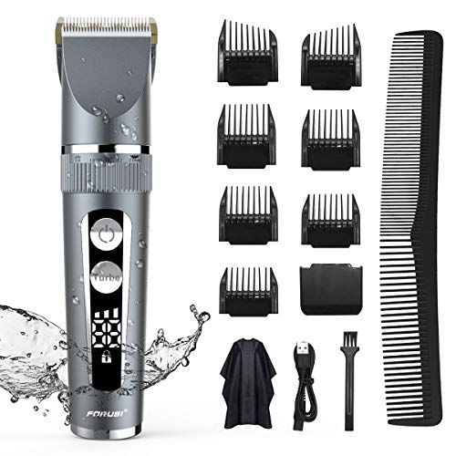 Hair Clippers for Men,Professional Cordless Clipper Hair Trimmer Set Waterproof Beard Shaver Hair Cutting Kit for Men Kids Family Use