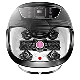All in One Foot Spa Bath Massager with Heat, Motorized Shiatsu Roller and Bubble Jets, Rolling Massage Adjustable Time & Temperature Relieve Foot Pressure