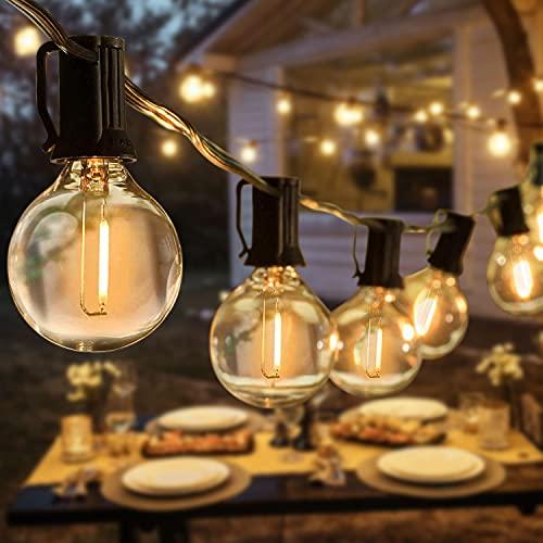 Lichterkette, Tencoz 10M 10 LED Lichterkette Glühbirnen Wasserdicht Outdoor Lichterkette mit 2 Ersatzbirnen, Plug In Warmweiß Retro Bleuchtung für Garten Weihnachten Bäume Party Hochzeit