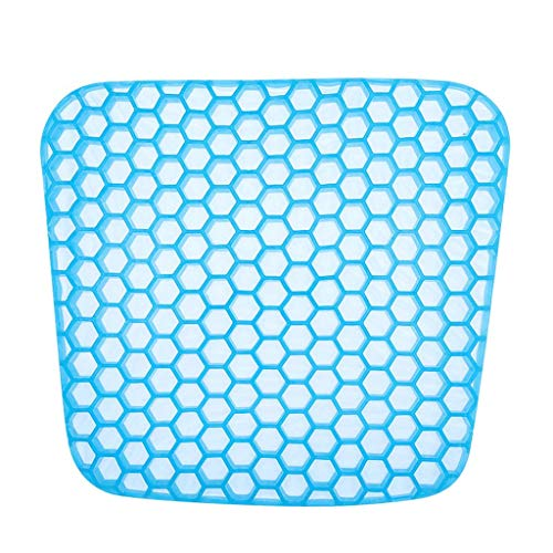 Yppss Gel Seat Cushion with Non-Slip Cover,Double Thick Honeycomb Design Cushion for Pressure Relief Back Tailbone Pain,Perfect for Home Office Chair Car Wheelchair eternal