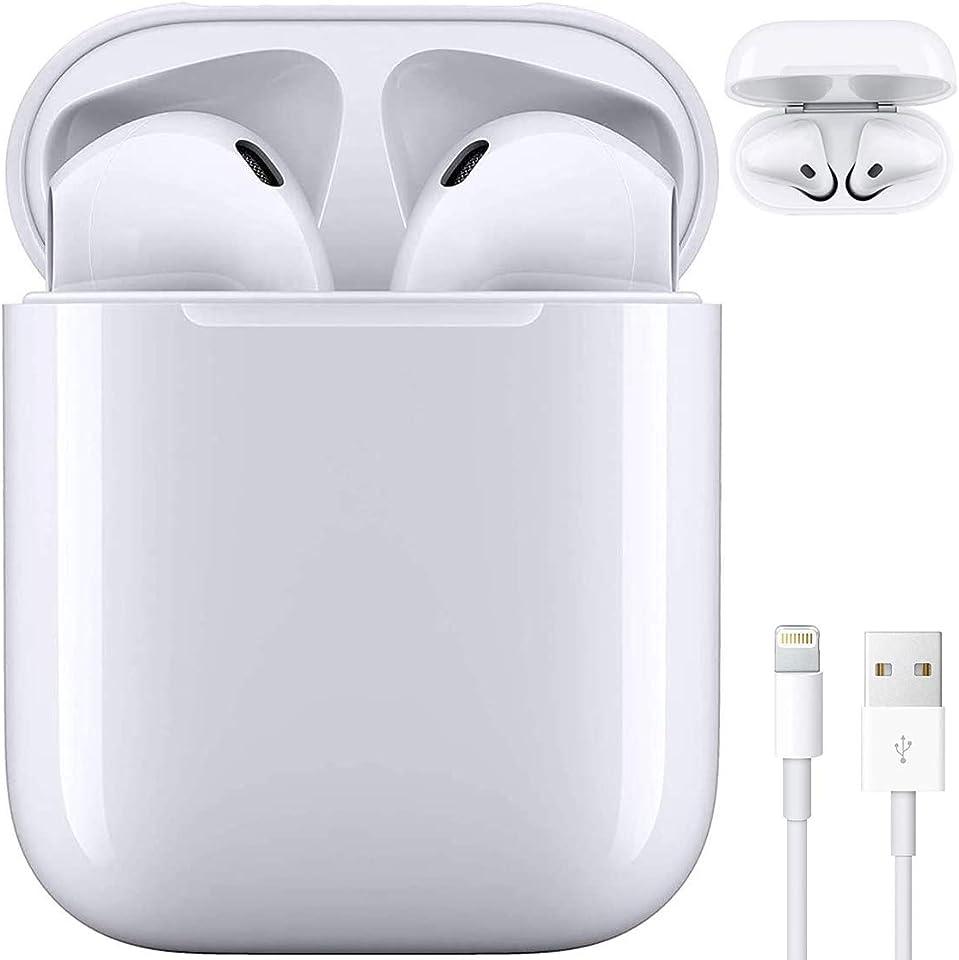 Bluetooth-Kopfhörer,In-Ear Kabellose Kopfhörer IPX5 wasserdichte,Noise-Cancelling-Kopfhörer,Geräuschisolierung,Sport-kopfhörer,mit 24H Ladekästchen und Mikrofon, für Android/AirPods/Samsung