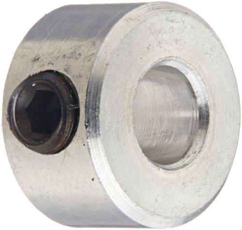 Climax Part C-018-A, Aluminum, Set Screw Collar, 3/16 inch bore, 7/16 inch OD, 1/4 inch Width, 8-32 x 1/8' Set Screw