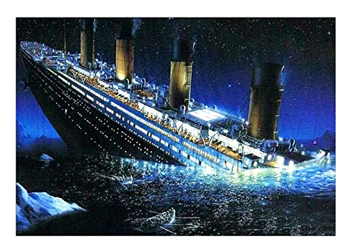ZGPTOP Klassische Puzzles Titanic Herausforderendes Puzzle Kids DIY Spielzeug Wandbehang Wohnkultur Holz Puzzles 300/500/1000/1500 Stück (Size : 300P)