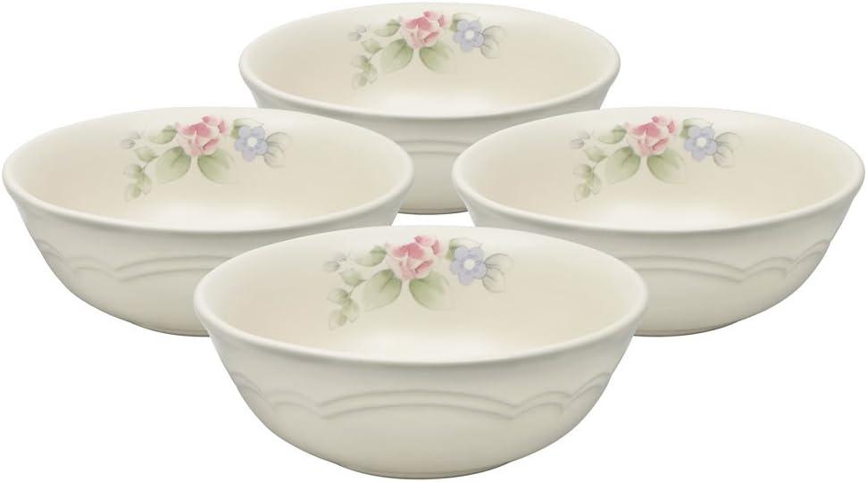 Choice Pfaltzgraff Tea Denver Mall Rose Soup Cereal 16-Ounce 4 of Bowl Set