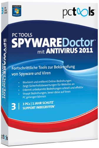 PC TOOLS SPYWARE Doctor WITH ANTIVIRUS 2011 1 USER 3 PC [import allemand]