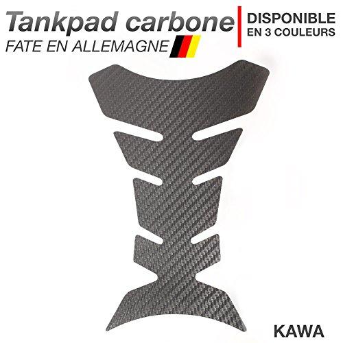 Motoking Tankpad Carbone KAWA - réservoir de la Moto et de la Protection de la Peinture, Universel - Disponible en 3 Couleurs - Anthracite