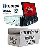 Autoradio Radio Caliber RMD574BT - Bluetooth | MP3 | USB | SD | 7' TFT - Einbauzubehör - Einbauset für Renault Clio 3 - JUST SOUND best choice for caraudio