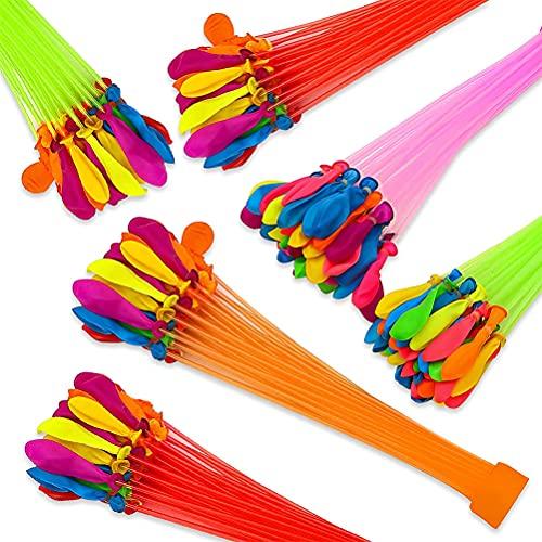 Guillala Wasserbomben Bunch-Balloons Luftballons, Bündel mit je 37 Wasserballons, Ohne zu Knoten Selbstschließende Wasser Ballons für Sommer Party Strand Pool-Spiel im Freien