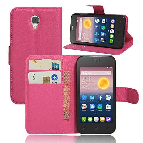 Litao-Case CN Hülle für ALCATEL ONE Touch PIXI First 4024X hülle Flip Leder + TPU Silikon Fixierh Schutzhülle Case 4