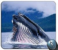 ホッキョククジラは水マウスパッドから飛び出し、ゲーミング長方形マウスパッド