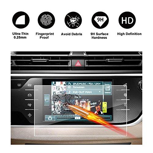 Gehard glas beschermfolie voor het navigatiesysteem 7 inch van Citroën Grand C4 Piclair (2013-2017) onzichtbare displaybeschermfolie schermfolie glasfolie doorzichtige folie Screen Protector-RUIYA